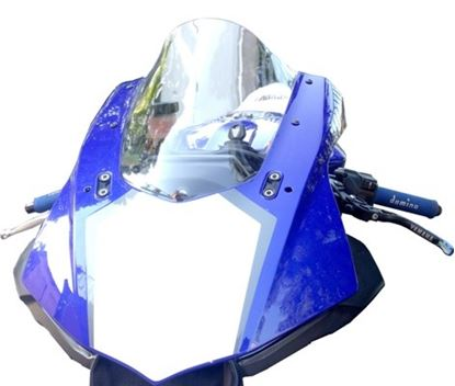 Εικόνα της Fabbri Double Bubble Light Smoke  YAMAHA YZF R1 - R1M 2015